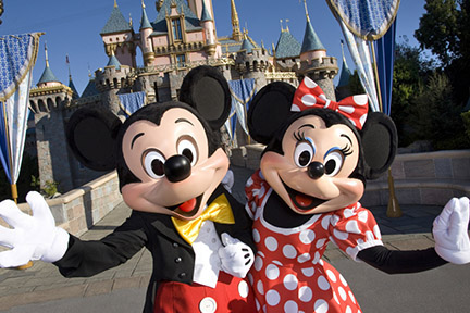 Mickey & Minnie Mouse at Disneyland
