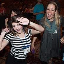 Carly Glasmyre and Corinne Zupko Fun on the Conference Dance Floor